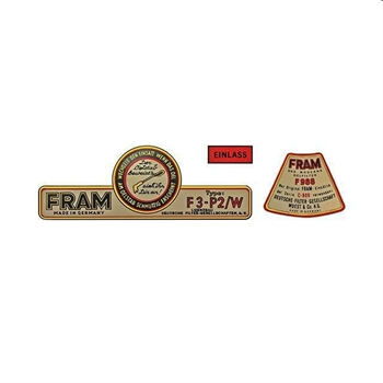 FLAT4 DECAL KIT FOR FRAM OIL FILTER
