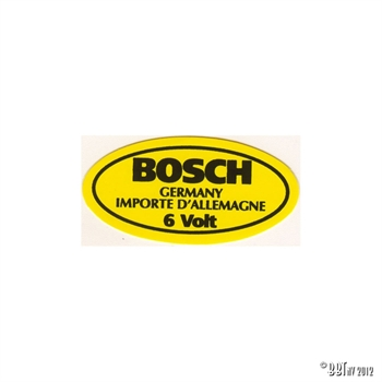 STICKER,6V BOSCH COIL