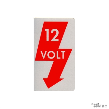 STICKER,12 VOLT
