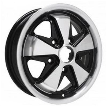 ALLOY WHEEL BLACK AND POLISHED 5X130 4.5X15 ET45>