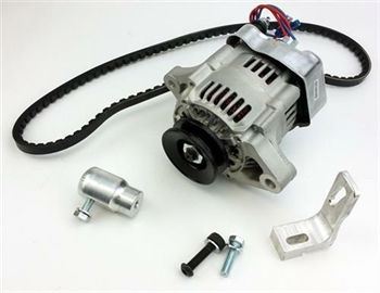 ALTERNATOR Alternator with integrated regulator.  Alternator, 75