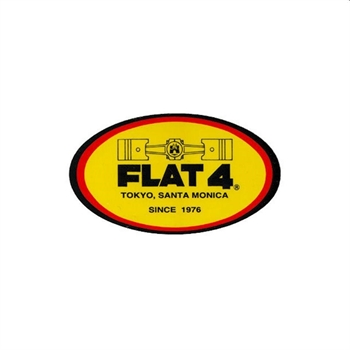 F4 STICKER ''FLAT-4'' 3PC