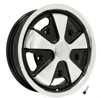 911 ALLOY WHEEL POLISHED WITH BLACK INNER SIDE (1)