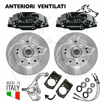 VENTED BRAKE DISC KIT, FRONT (KIT FOR BRAKE DRUM)