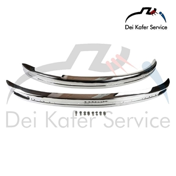 BUMPER SET, STAINLESS STEEL, FRONT AND REAR - 08/74 ... 12/85