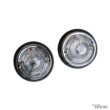 WHITE ROUND LIGHTS (PAIR)