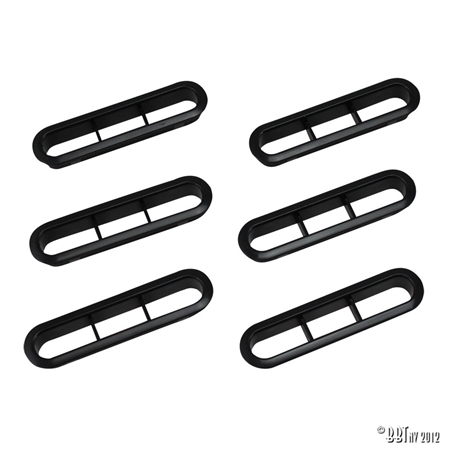 HEADLINER VENTS 72- BLACK (6PCS) BBT